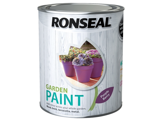 Thumbnail image of Ronseal Garden Paint Purple Berry 750ml