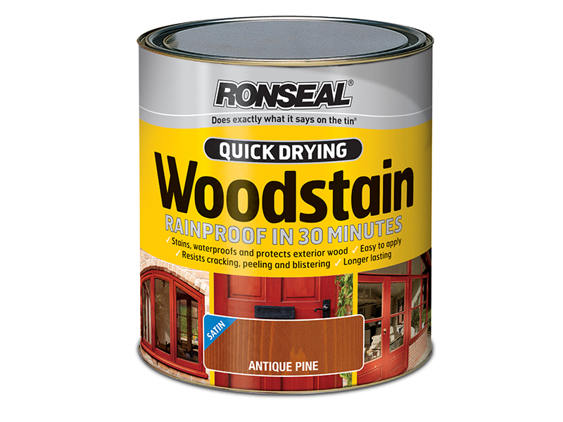 Thumbnail image of Ronseal Quick Drying Woodstain Satin Smoked Walnut 750ml