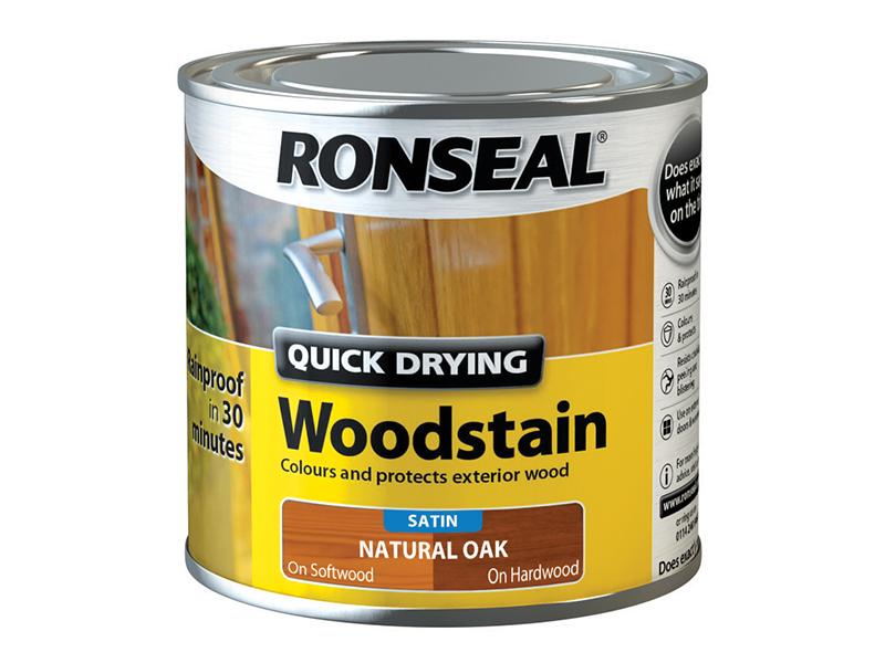 Thumbnail image of Ronseal Quick Drying Woodstain Satin Natural Oak 250ml