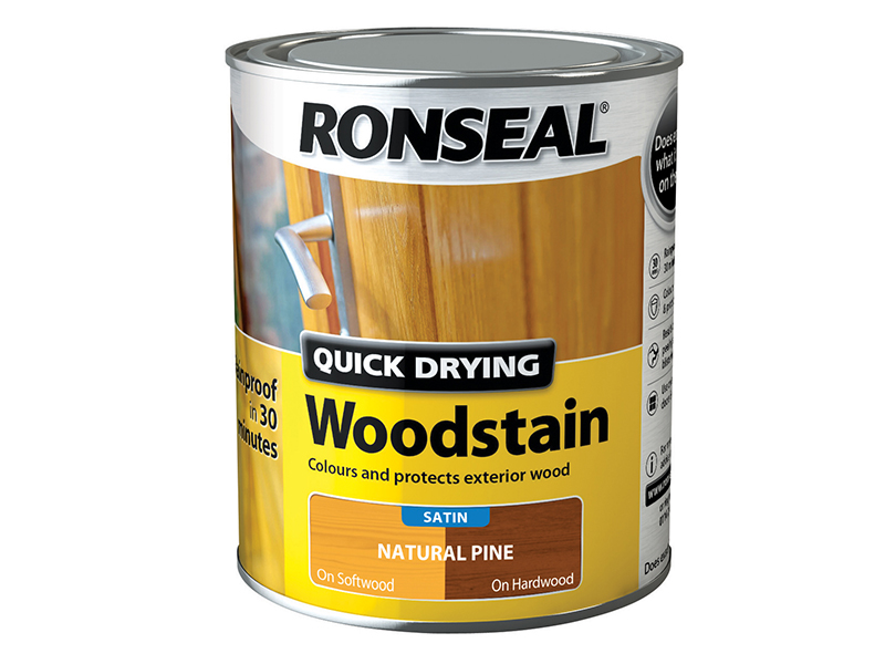Thumbnail image of Ronseal Quick Drying Woodstain Satin Natural Pine 750ml