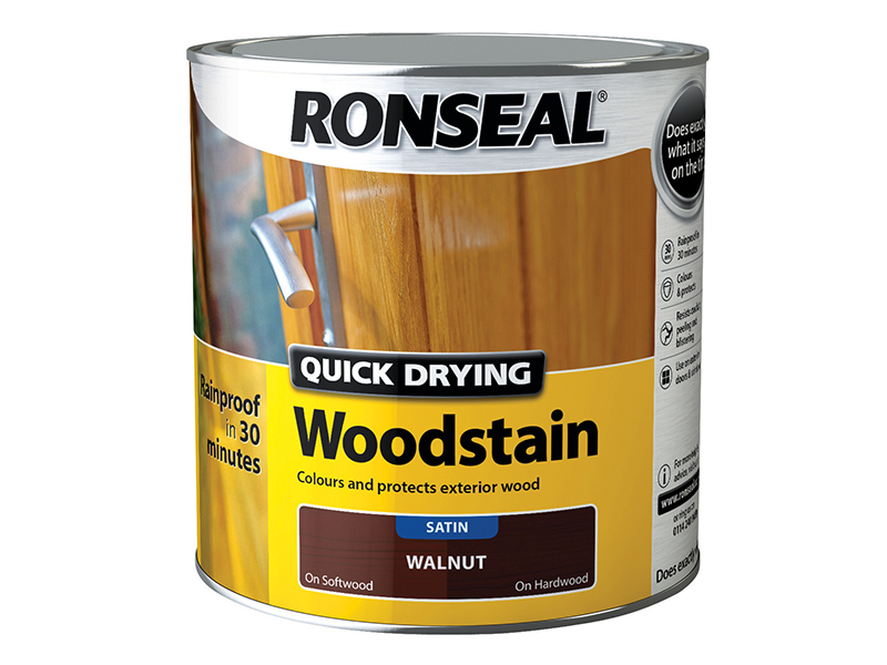 Thumbnail image of Ronseal Quick Drying Woodstain Satin Smoked Walnut 2.5 litre