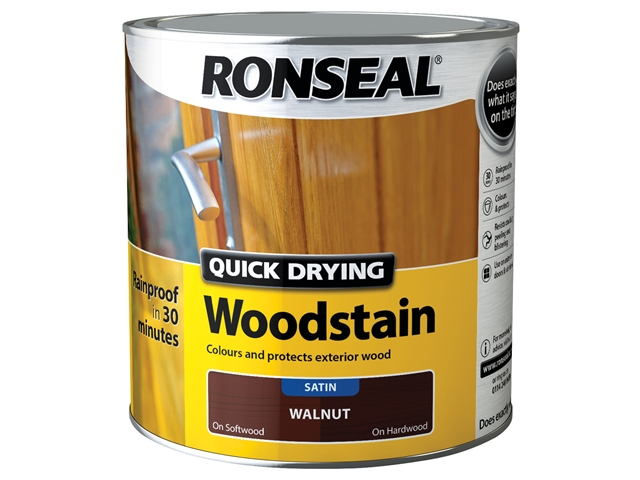 Thumbnail image of Ronseal Quick Drying Woodstain Satin Walnut 2.5 litre