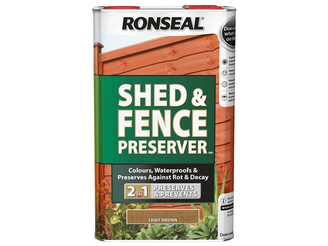 Thumbnail image of Ronseal Shed & Fence Preserver Black 5 litre