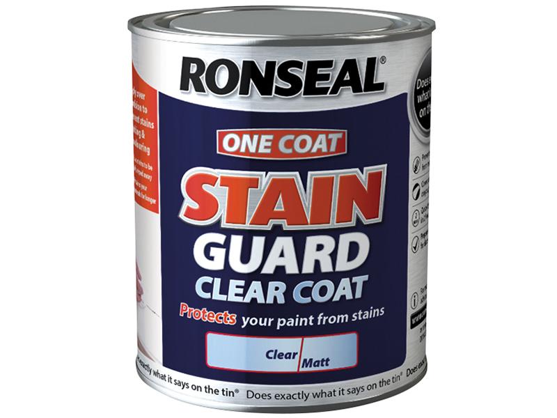 Thumbnail image of Ronseal Stain Guard Clear Coat Matt 2.5 litre