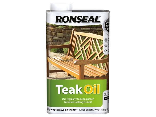 Thumbnail image of Ronseal Garden Furniture Teak Oil Can 1 litre