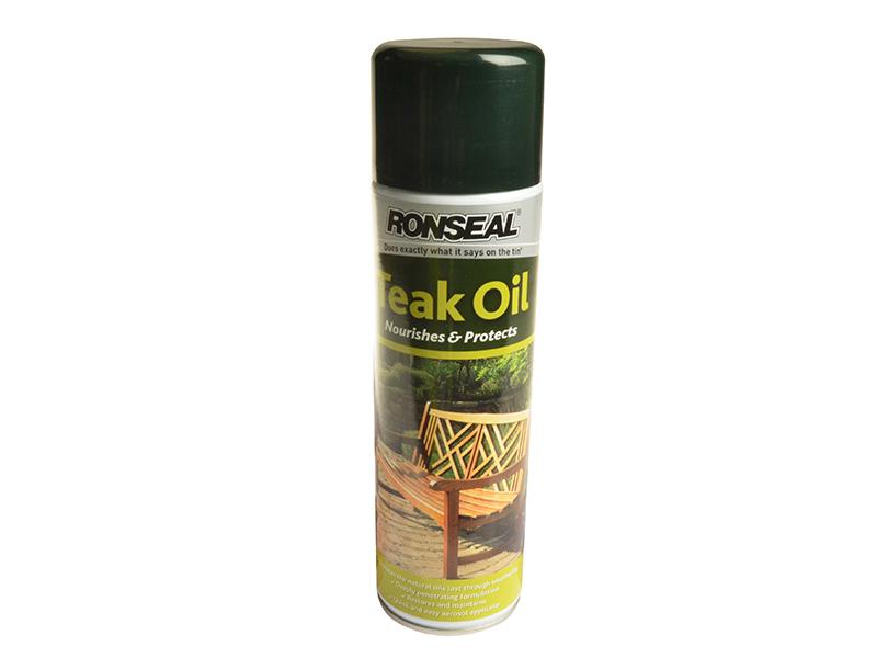 Thumbnail image of Ronseal Garden Furniture Teak Oil Aerosol 500ml