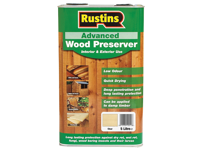 Thumbnail image of Rustins Advanced Wood Preserver Clear 5 litre