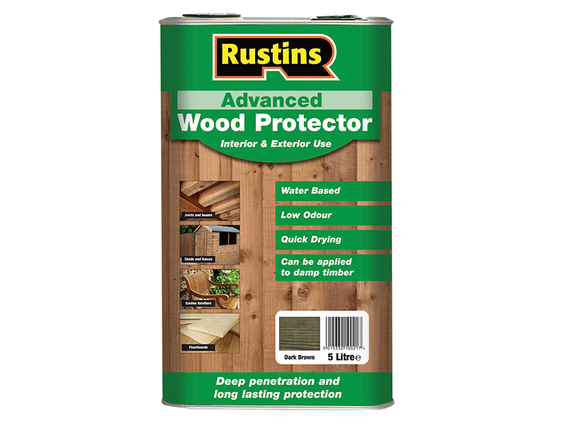 Thumbnail image of Rustins Quick Dry Advanced Wood Protector Dark Brown 5 litre
