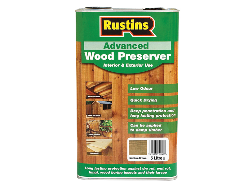 Thumbnail image of Rustins Quick Dry Advanced Wood Protector Mid Brown 5 litre