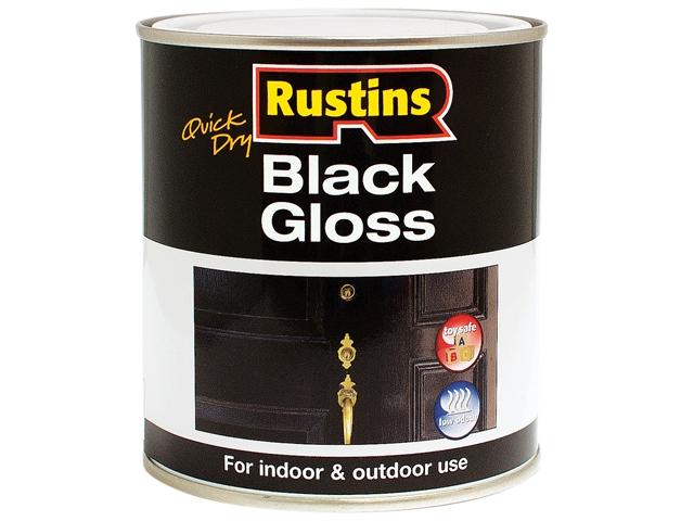 Thumbnail image of Rustins Quick Dry Black Gloss 250ml