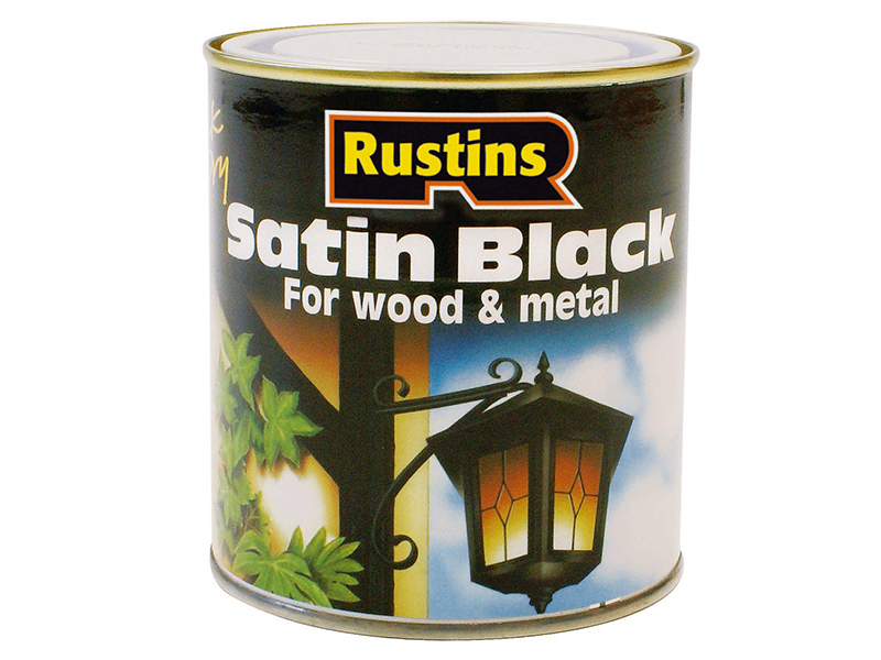 Thumbnail image of Rustins Satin Black Paint Quick Drying 1 Litre