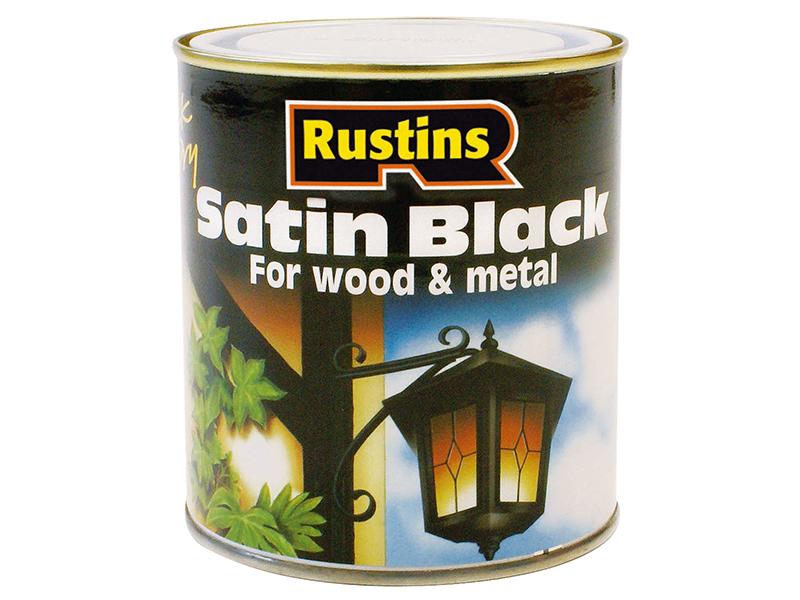Thumbnail image of Rustins Satin Black Paint Quick Drying 250ml