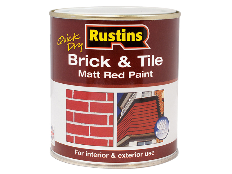 Thumbnail image of Rustins Quick Dry Brick & Tile Paint Matt Red 250ml