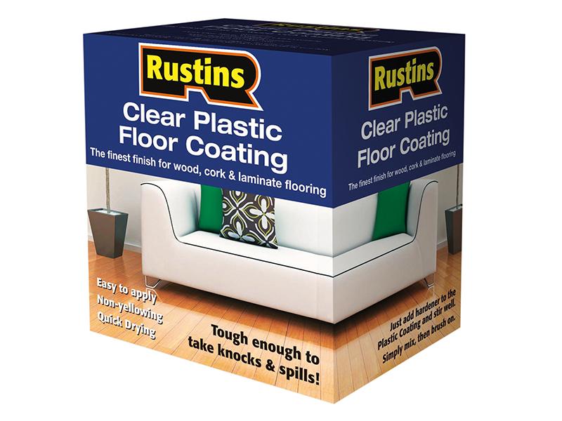 Thumbnail image of Rustins Clear Plastic Floor Coating Kit Satin 4 litre