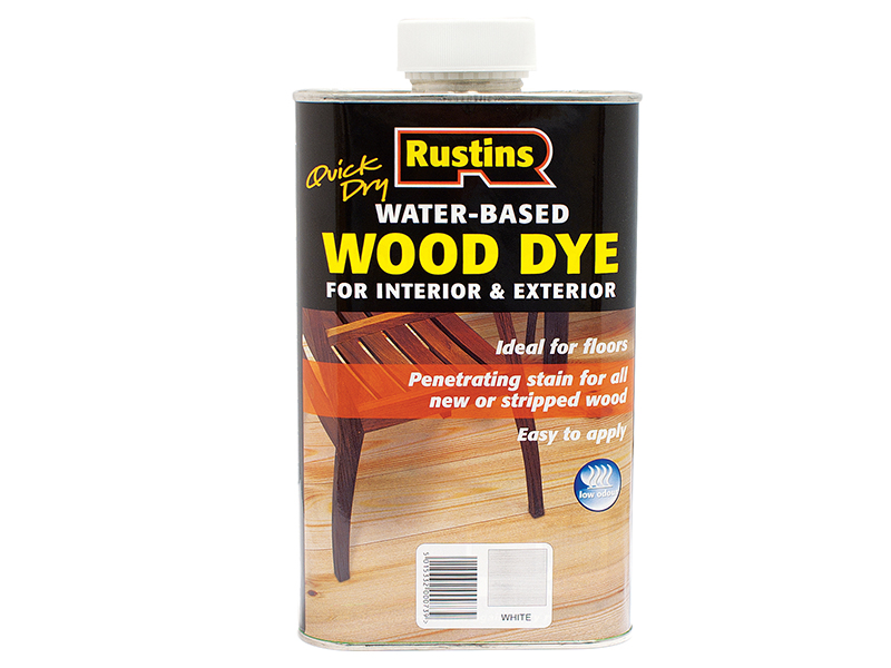 Thumbnail image of Rustins Quick Dry White Wood Dye 250ml