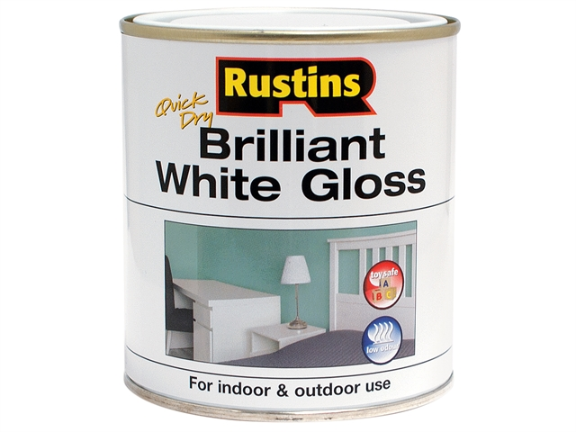 Thumbnail image of Rustins Quick Dry Brilliant White Gloss 1 Litre