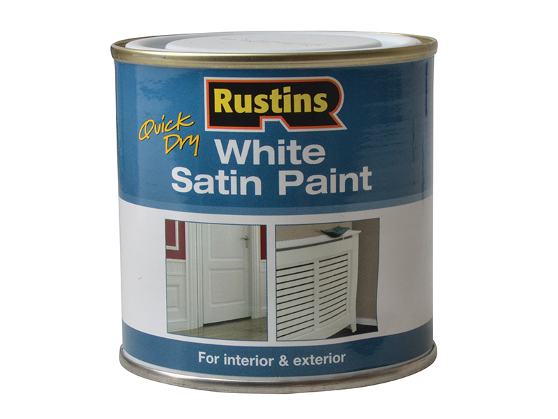 Thumbnail image of Rustins Quick Dry White Satin Paint 250ml
