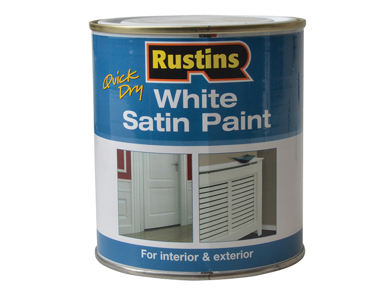 Thumbnail image of Rustins Quick Dry White Satin Paint 500ml