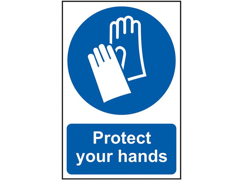 Thumbnail image of Scan Protect Your Hands - PVC 200 x 300mm