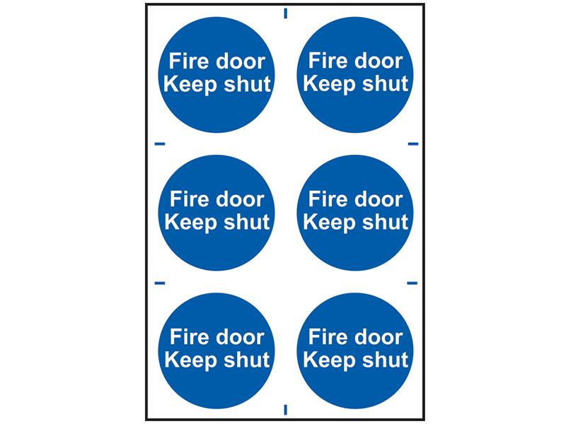 Thumbnail image of Scan Fire Door Keep Shut - PVC 200 x 300mm
