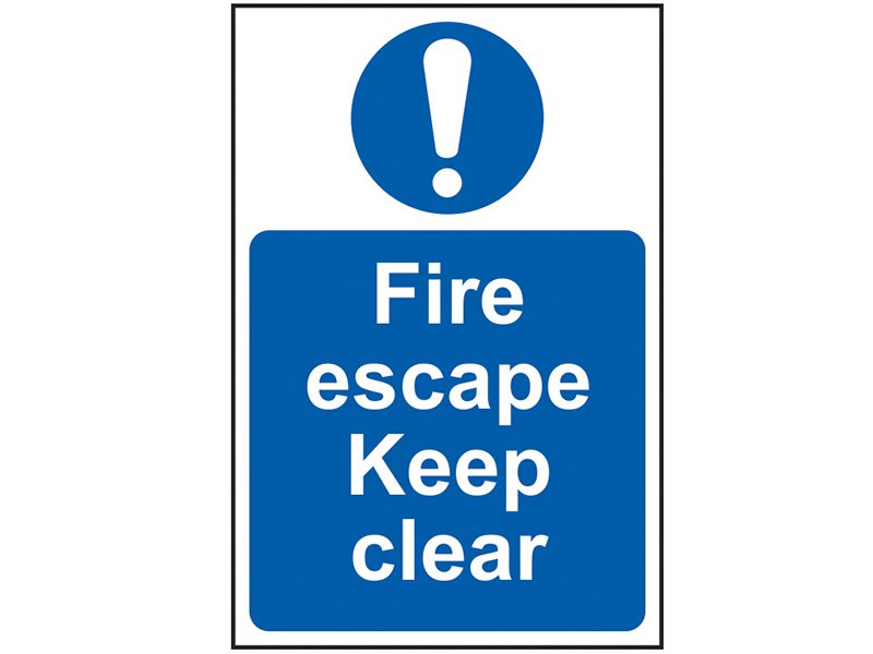 Thumbnail image of Scan Fire Escape Keep Clear - PVC 200 x 300mm