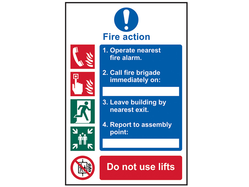 Thumbnail image of Scan Fire Action Procedure - PVC 200 x 300mm