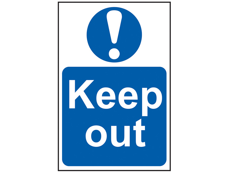 Thumbnail image of Scan Keep Out - PVC 200 x 300mm