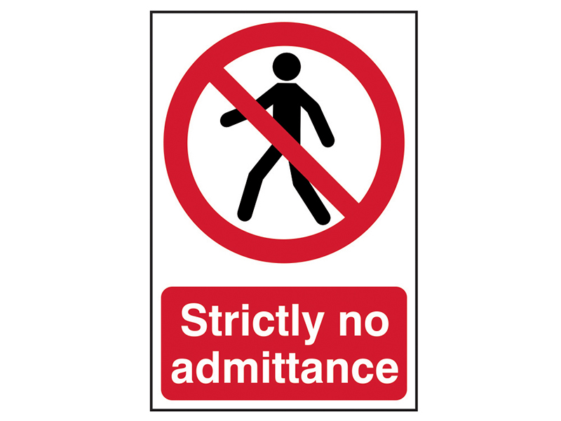 Thumbnail image of Scan Strictly No Admittance - PVC 200 x 300mm