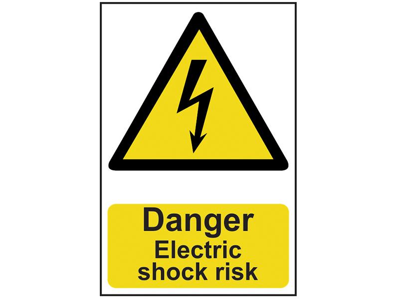Thumbnail image of Scan Danger Electric Shock Risk - PVC 200 x 300mm