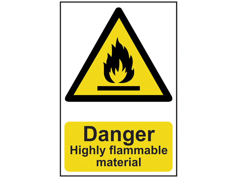 Thumbnail image of Scan Danger Highly Flammable Material - PVC 200 x 300mm
