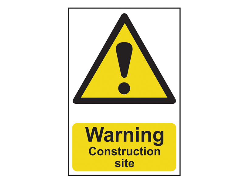 Thumbnail image of Scan Warning Construction Site - PVC 200 x 300mm