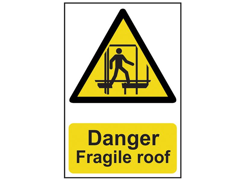 Thumbnail image of Scan Danger Fragile Roof - PVC 200 x 300mm