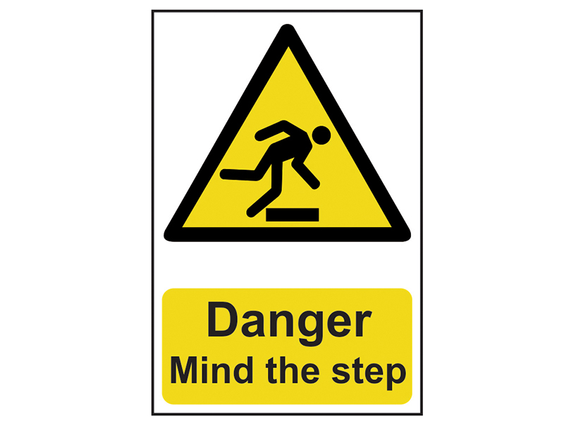 Thumbnail image of Scan Danger Mind The Step - PVC 200 x 300mm