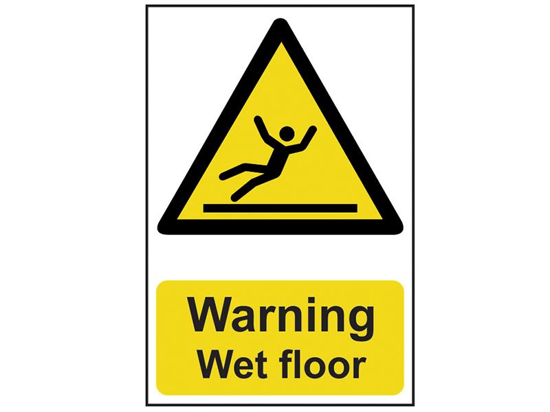 Thumbnail image of Scan Warning Wet Floor - PVC 200 x 300mm