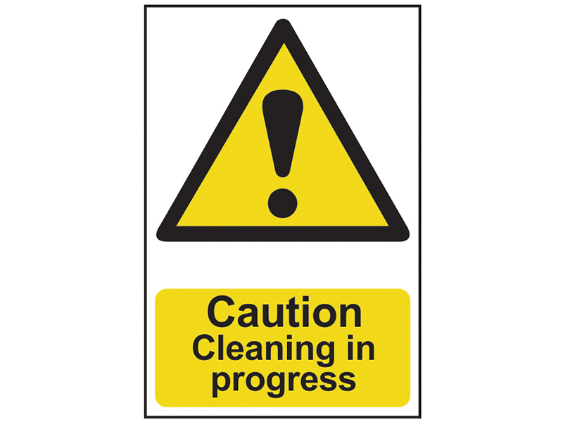 Thumbnail image of Scan Caution Cleaning In Progress - PVC 200 x 300mm