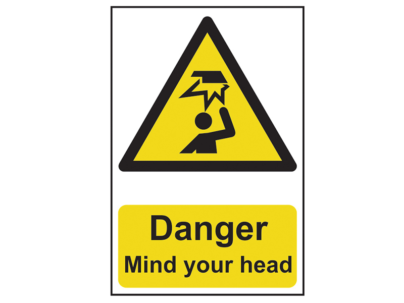 Thumbnail image of Scan Danger Mind Your Head - PVC 200 x 300mm