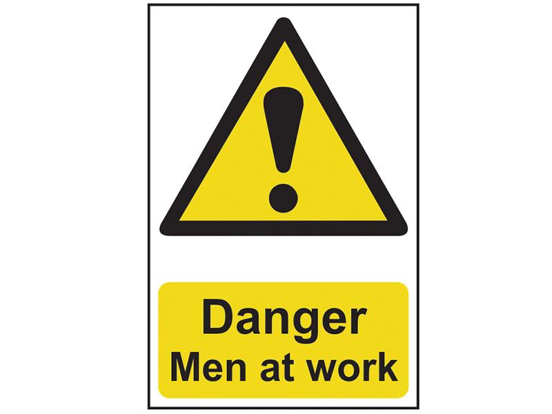 Thumbnail image of Scan Danger Men At Work - PVC 200 x 300mm