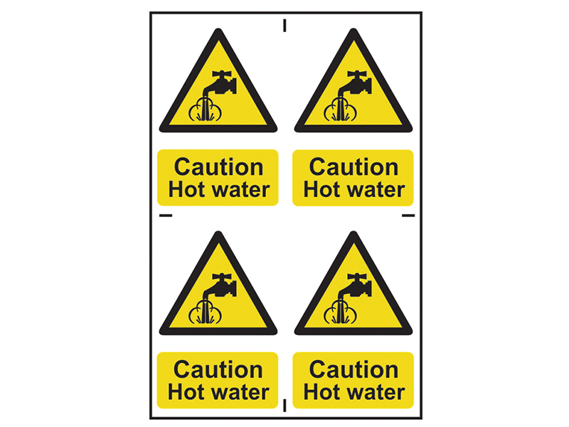 Thumbnail image of Scan Caution Hot Water - PVC 200 x 300mm