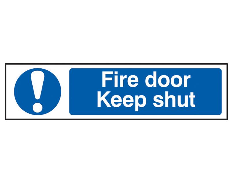 Thumbnail image of Scan Fire Door Keep Shut - PVC 200 x 50mm
