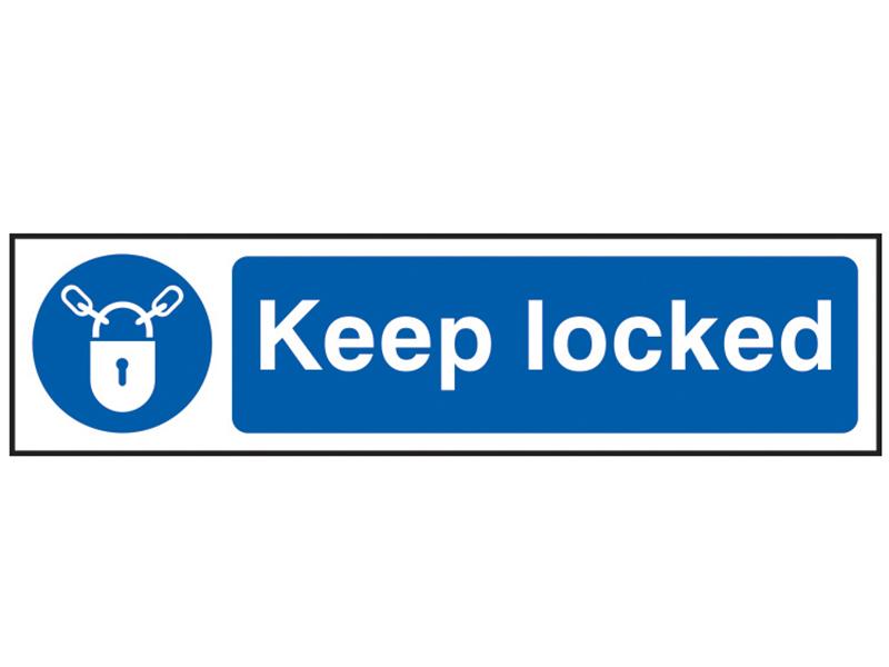 Thumbnail image of Scan Keep Locked - PVC 200 x 50mm