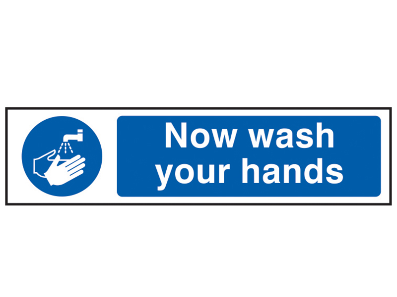 Thumbnail image of Scan Now Wash Your Hands - PVC 200 x 50mm