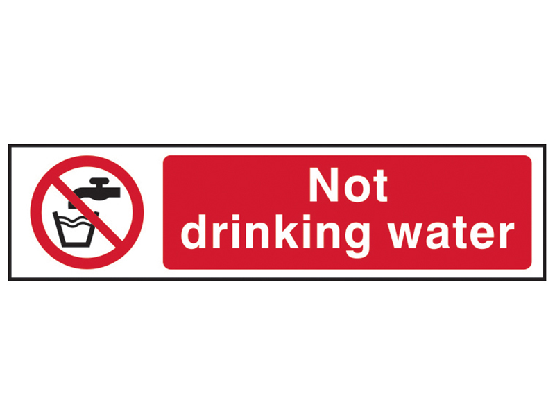 Thumbnail image of Scan Not Drinking Water - PVC 200 x 50mm