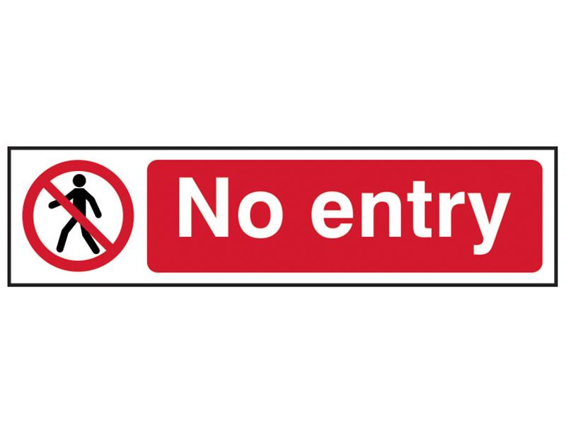Thumbnail image of Scan No Entry - PVC 200 x 50mm