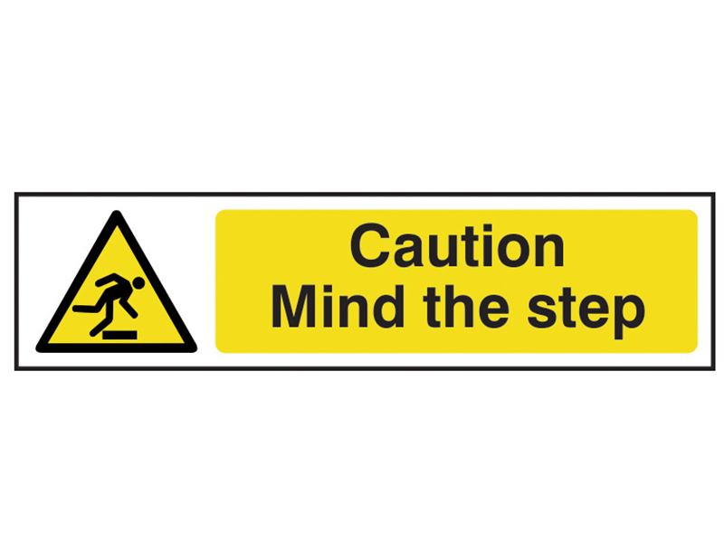 Thumbnail image of Scan Caution Mind The Step - PVC 200 x 50mm