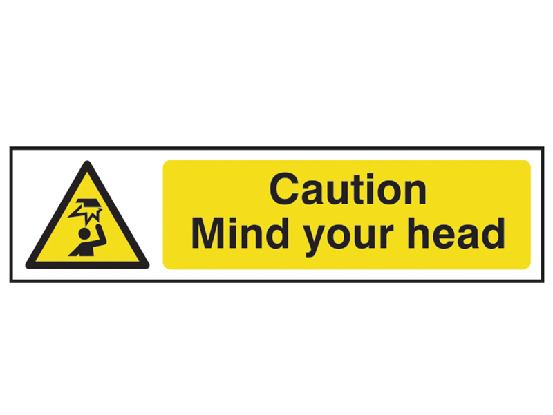Thumbnail image of Scan Caution Mind Your Head - PVC 200 x 50mm