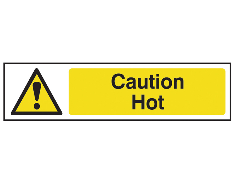 Thumbnail image of Scan Caution Hot - PVC 200 x 50mm