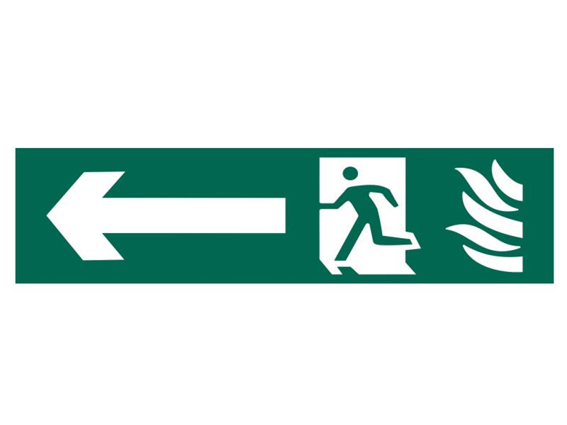 Thumbnail image of Scan Running Man Arrow Left - PVC 200 x 50mm