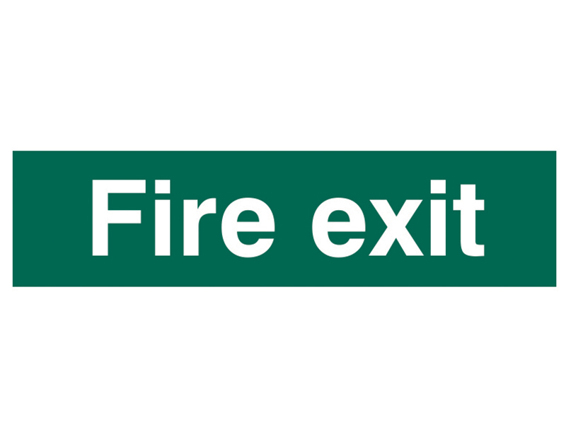 Thumbnail image of Scan Fire Exit Text Only - PVC 200 x 50mm