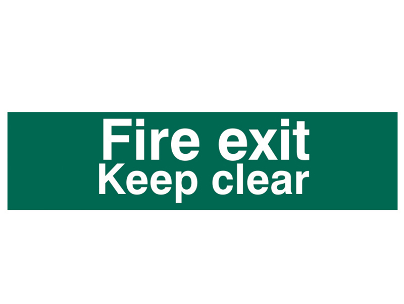 Thumbnail image of Scan Fire Exit Keep Clear Text Only - PVC 200 x 50mm