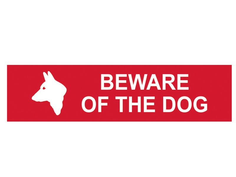 Thumbnail image of Scan Beware Of The Dog - PVC 200 x 50mm